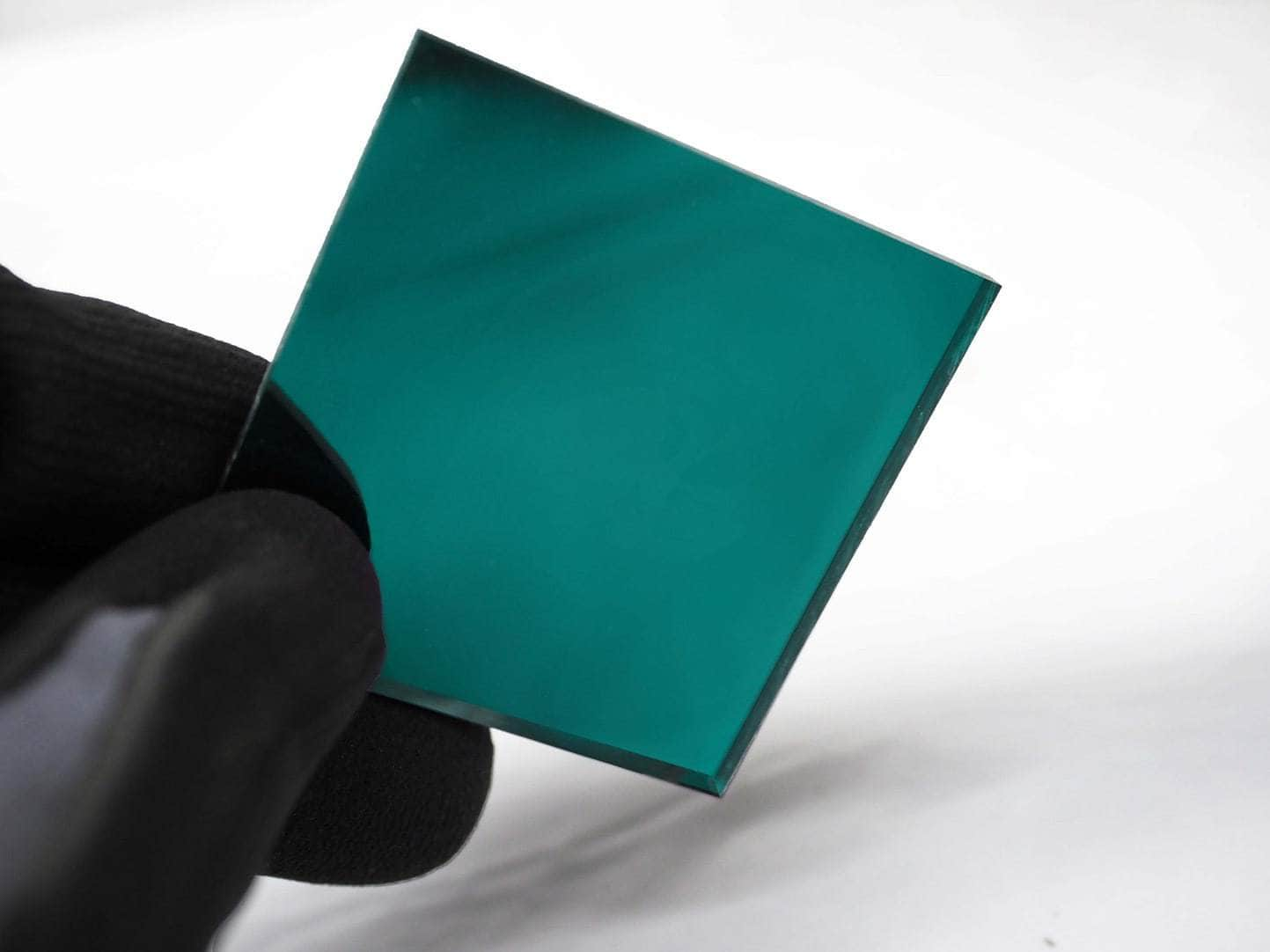 Acrylic two way mirror color sample 2120 Teal