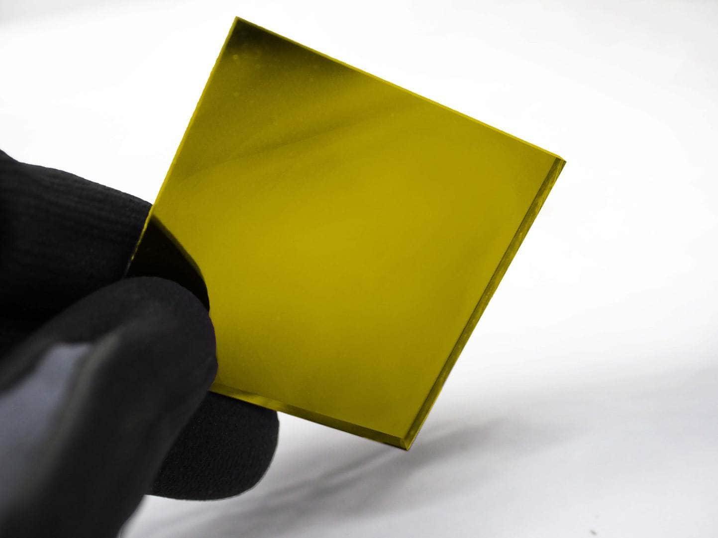 Acrylic two way mirror color sample 2208 Yellow