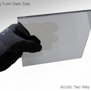 Acrylic Two Way Mirror Viewing From Dark Side