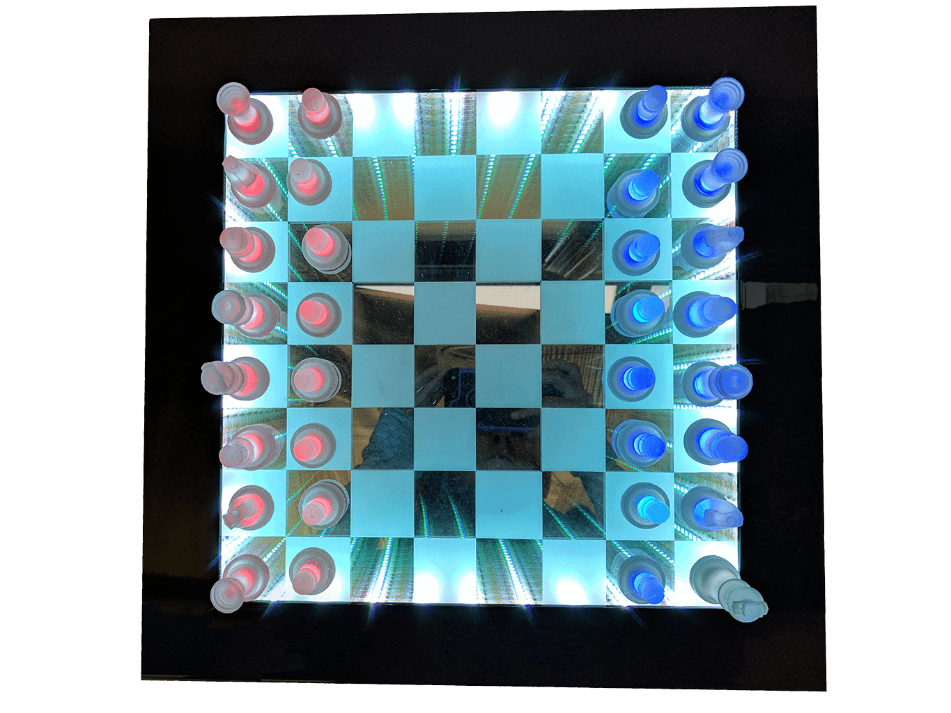 infinity mirror chess board