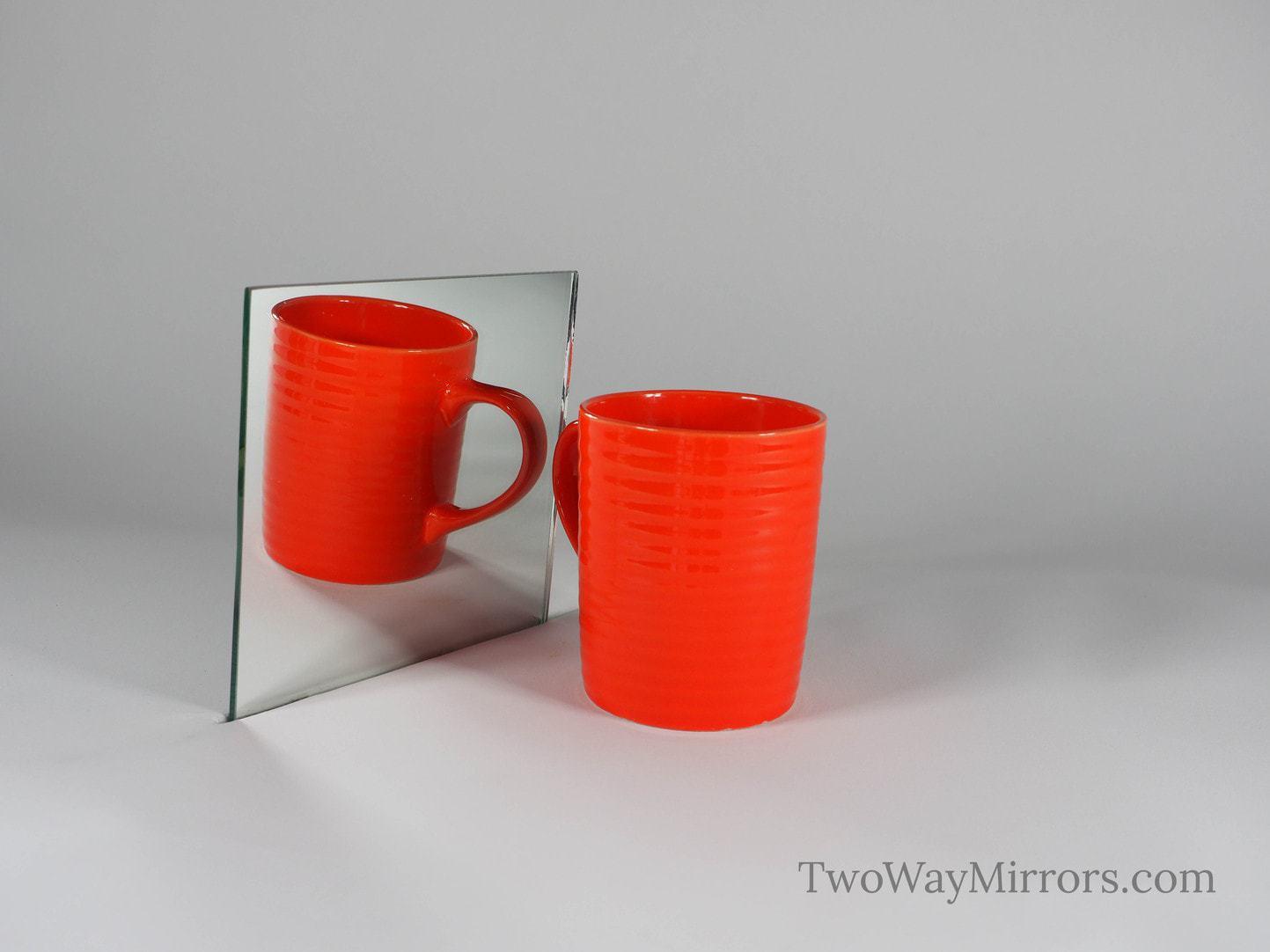 6″x6″ (152.4×152.4mm) Standard Mirror Sample – 6mm (1/4″) Thickness