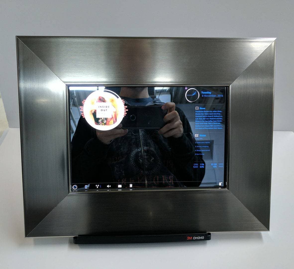 Stainless steel smart mirror for tabpro s two way mirrors for Two way mirror