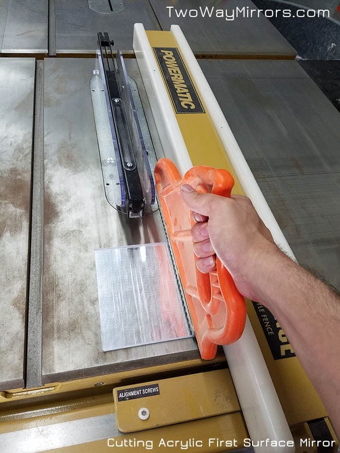 Cutting Acrylic First Surface Mirror