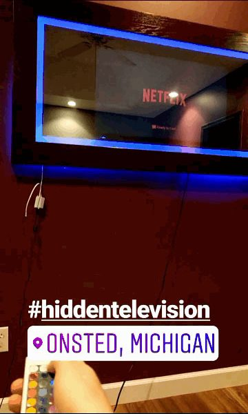 LED Mirror Television showing Netflix and LED capabilities.