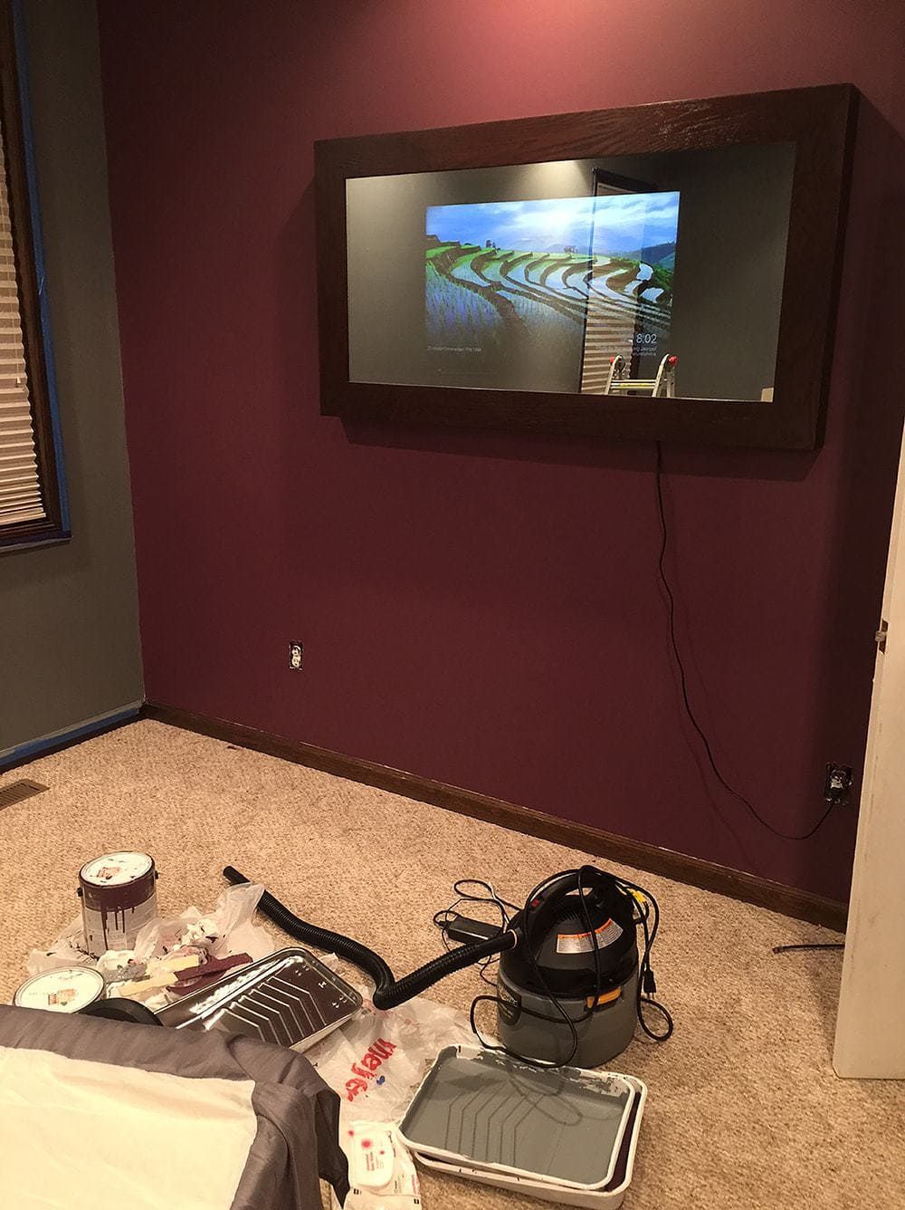 Finished Diy Led Smart Mirror Tv Two Way Mirrors