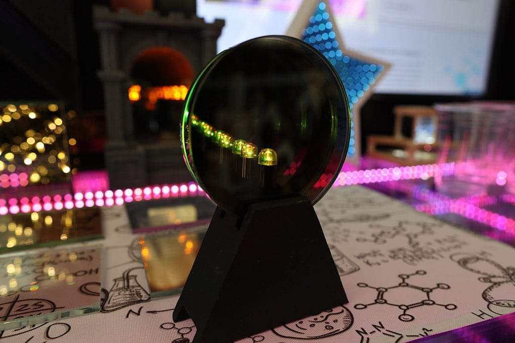infinity mirror with glass two way mirror
