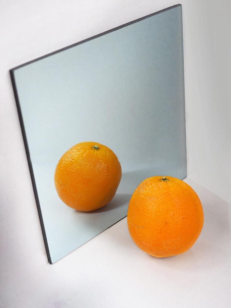 Two Way Mirror Front Example Orange