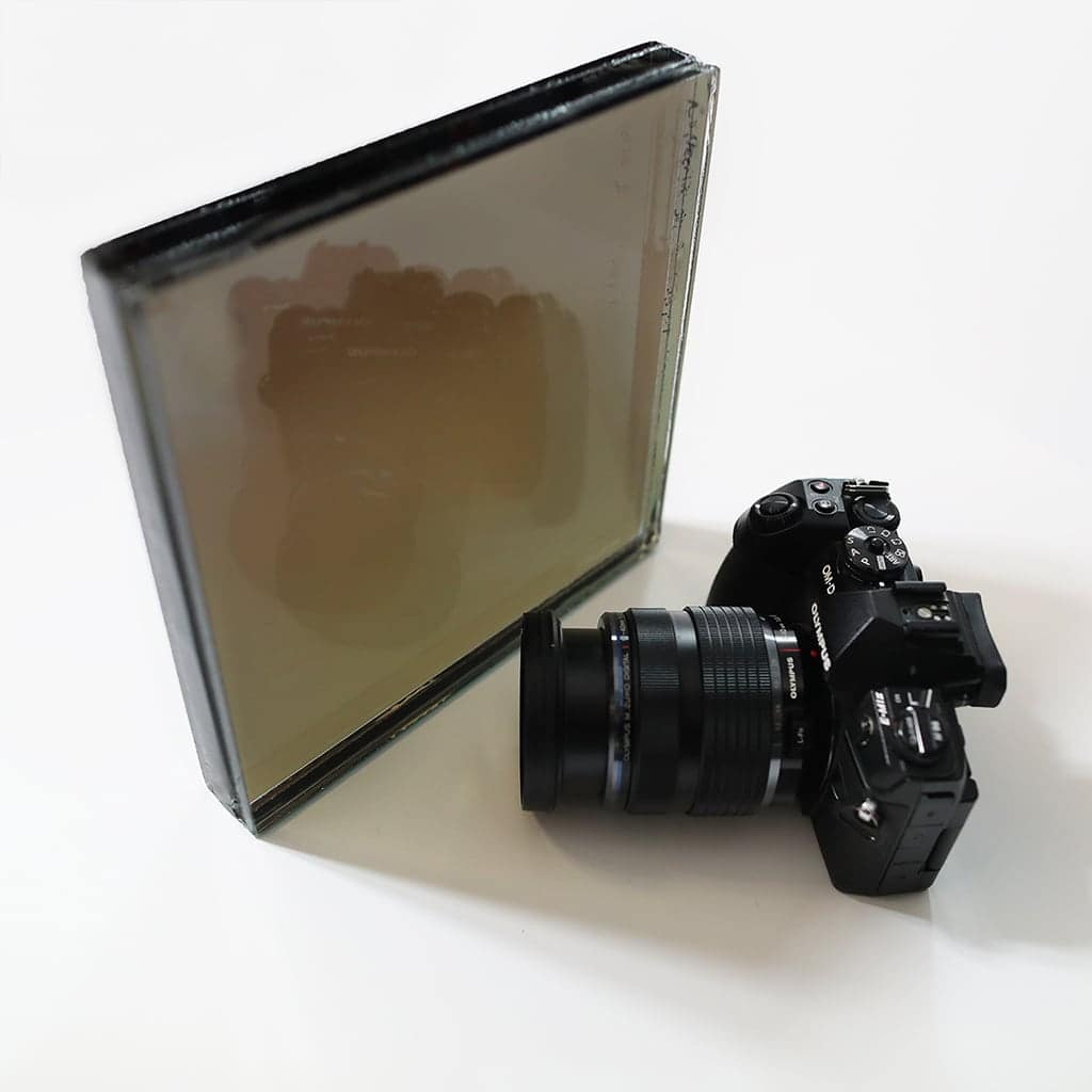 ballilstic two way mirror sample back view camera