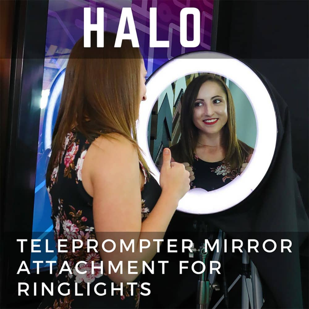 NEW PRODUCT ALERT: Halo Teleprompter Mirror Attachment For Ring Lights