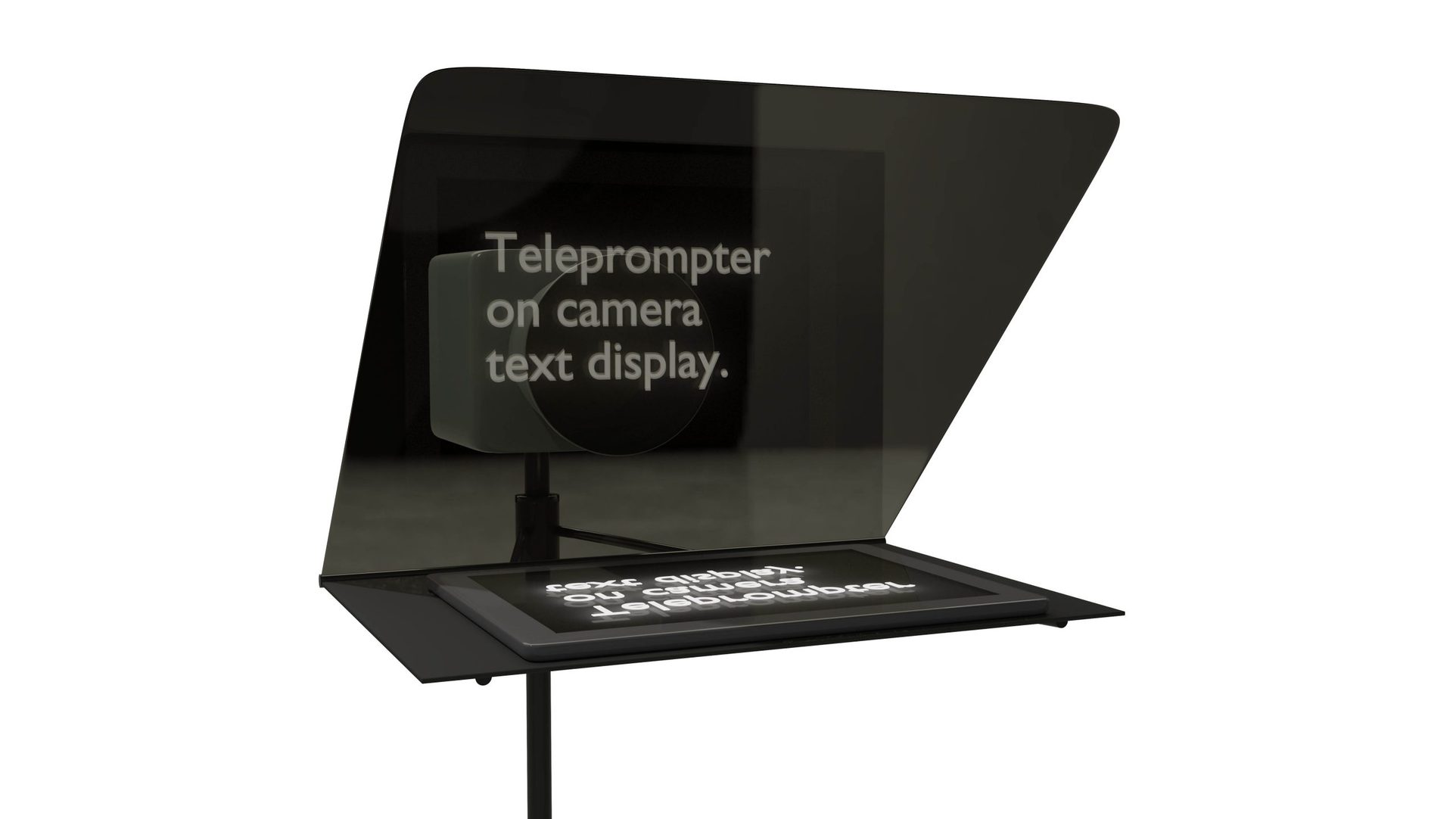 iPad on Portable Teleprompters