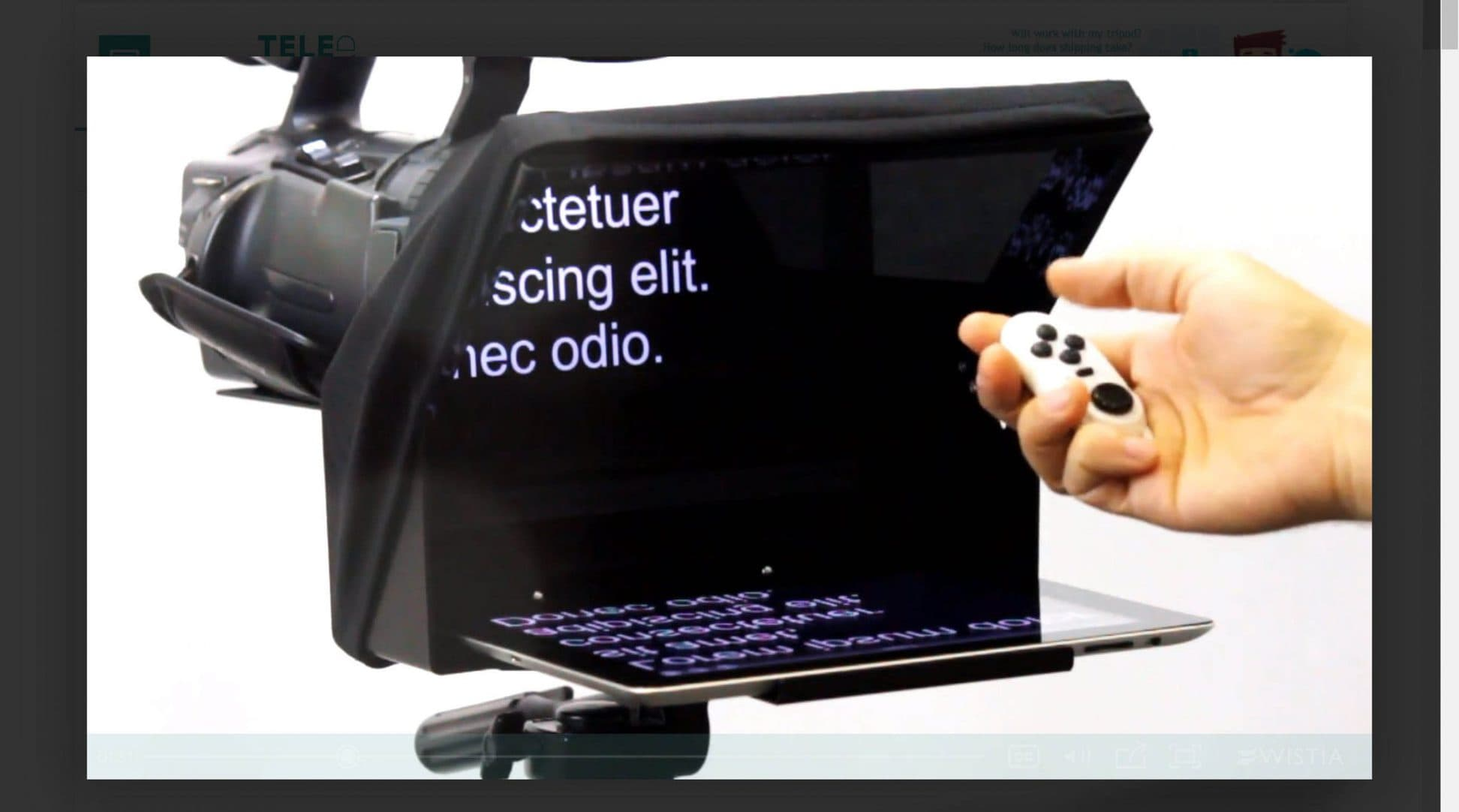 Portable Teleprompters TeleprompterPAD