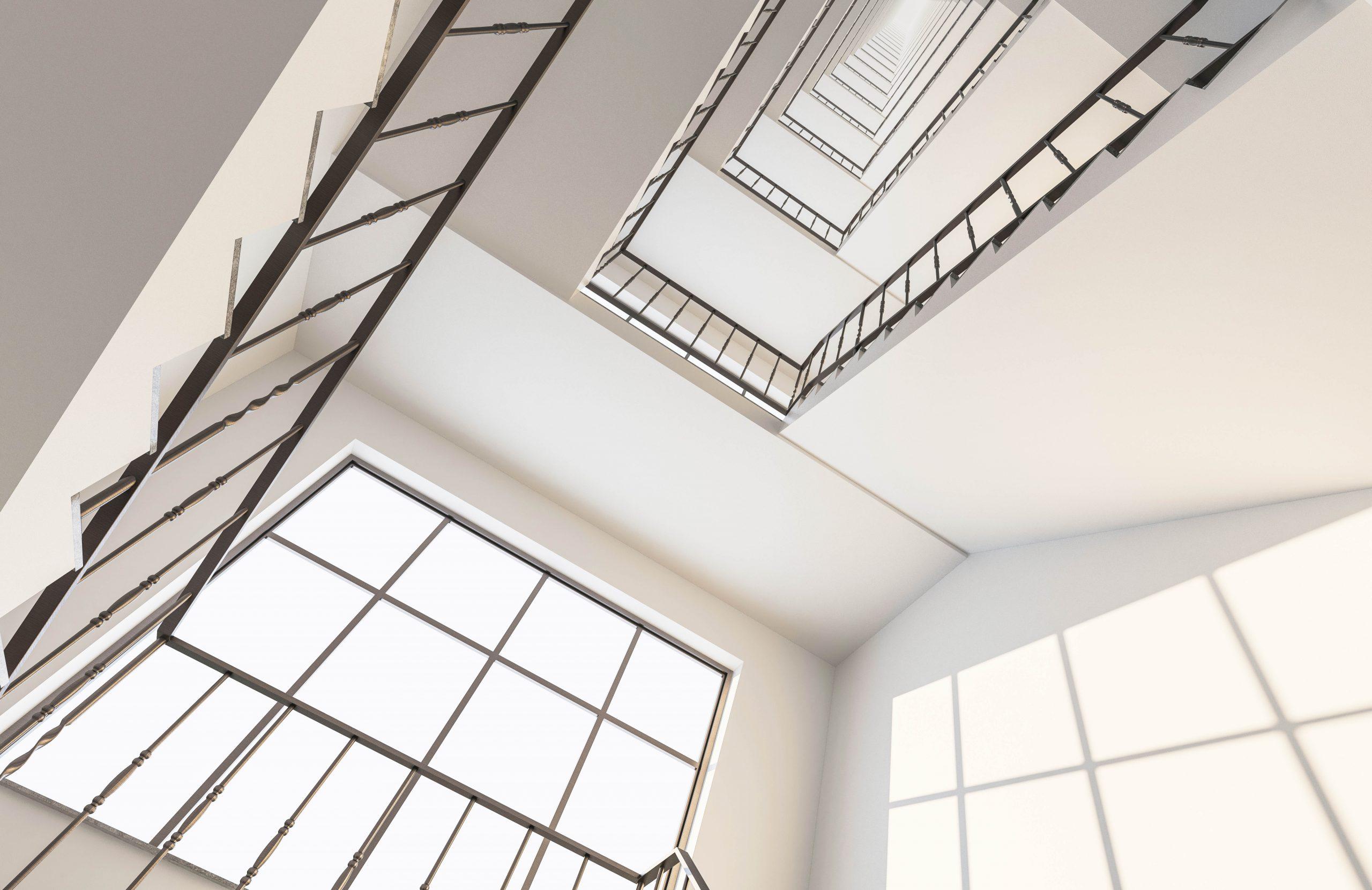 Below,The,Stairs,Looking,Up,3d,Rendering